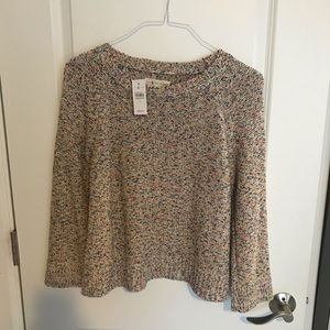 New pretty cotton blend sweater.